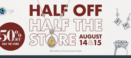 MJ Christensen Diamond's Half Off Half the Store Jewelry Sale